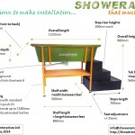 dimensions of our dog shower